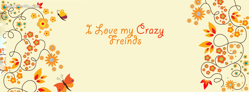 i love my crazy frends fb cover