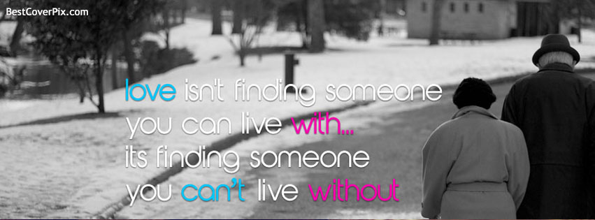 Love Quote Cover for Facebook