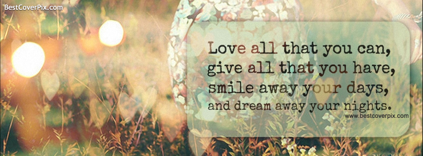Awesome Smile Quote Facebook Cover Photo