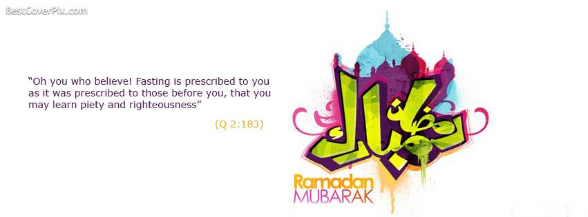 ramadan mubarak facebook cover photo