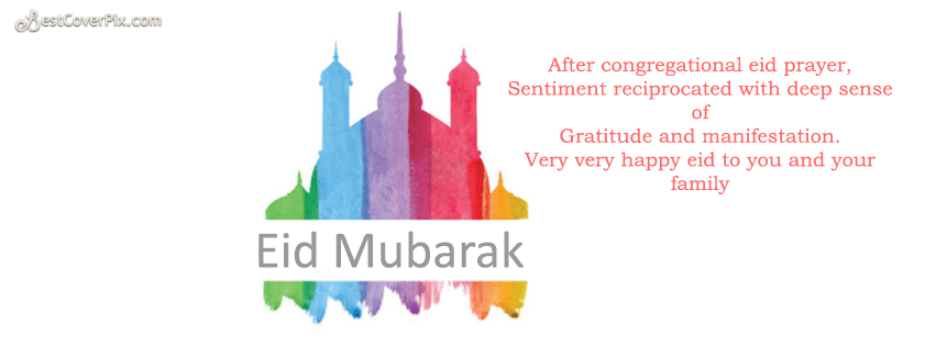 Eid Wishes and Quotes Facebook cover