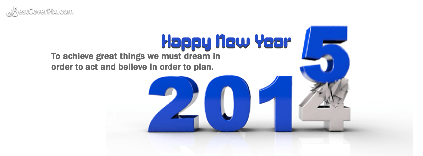 Cool 2015 happy new year quote fb cover and banner