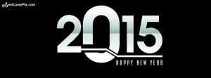 Happy New year 2015 Cover in Black