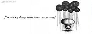 rainy quotes fb banner