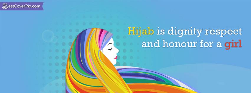 love hijab facebook cover photo