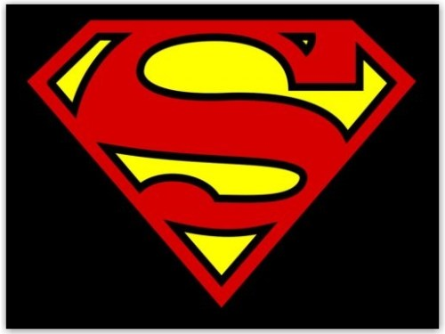 comic logo superman