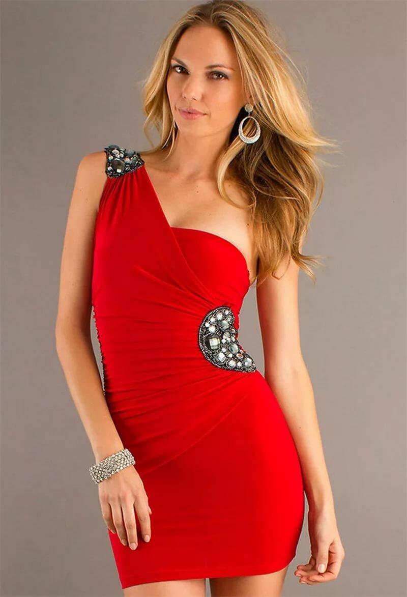 Menina em um vestido vermelho