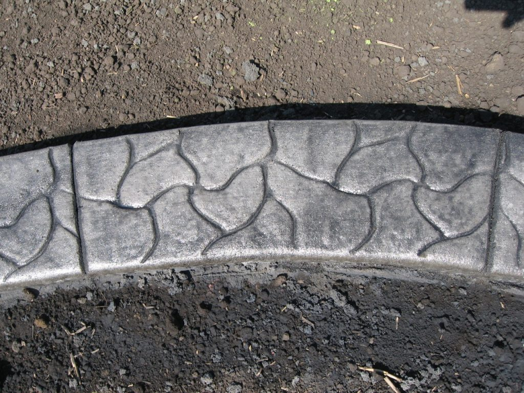 Base-Light charcoal  Release- dark grey Stamp- cobble curb