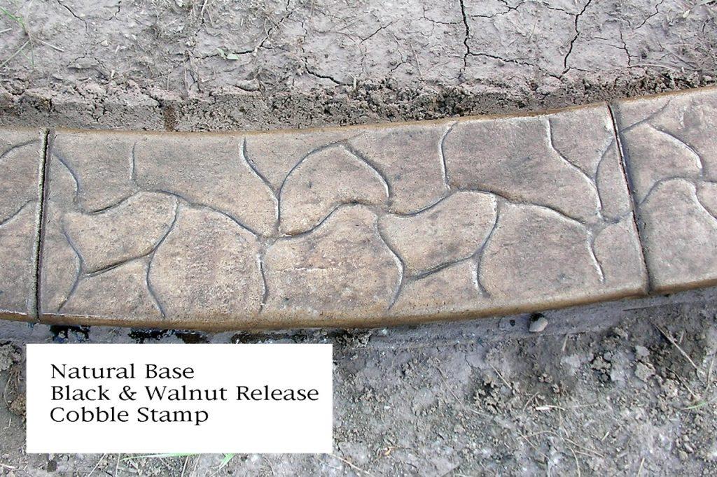Base-  sand  Release- dark grey  Stamp- cobble curb