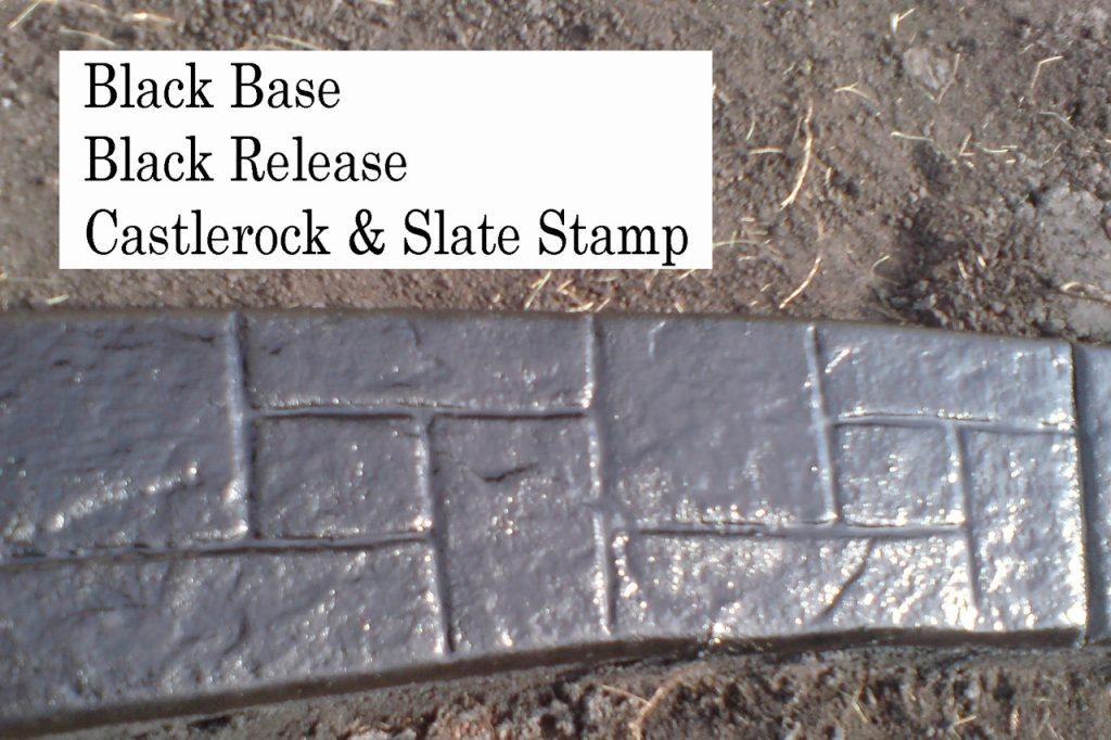 Base- near black   Release-  black Stamp- castlerock/slate curb