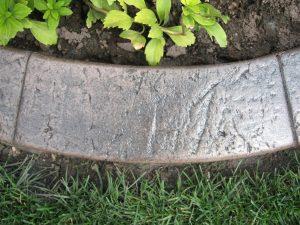 Base- medium taupe  Release-  dark grey Stamp- stucco curb