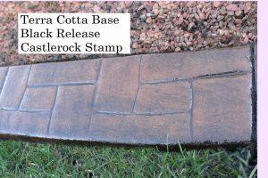<strong>Base-  Terra Cotta Release-  Black Stamp- Castlerock</strong>