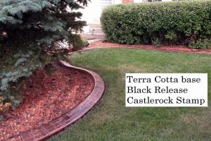 Base-  terra cotta dark Release-  black  Stamp- castlerock curb