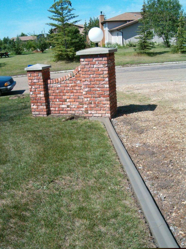 light duty driveway edging