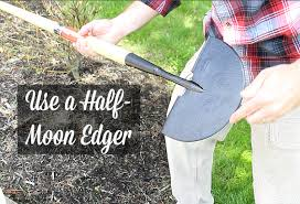 half moon edger for curb prep  SHARPEN IT!
