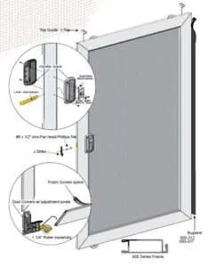 Economy Sliding Screen Door Schematic