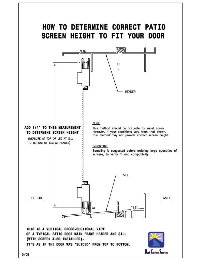 Measuring Instructions for Sliding Screen Doors