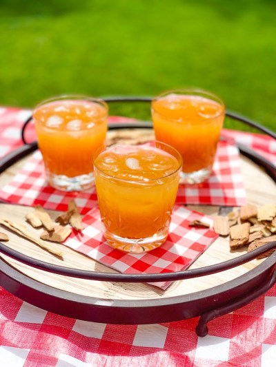 Mesquite-Infused Bourbon Peach Lemonade