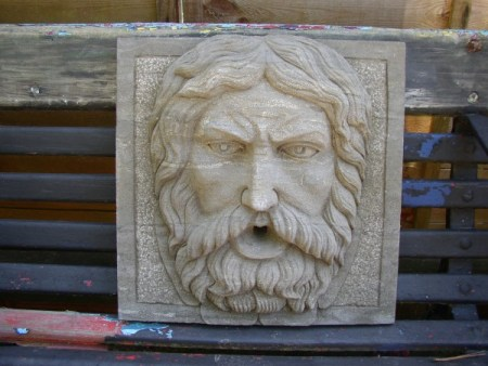Bearded Man Wall Water Feature