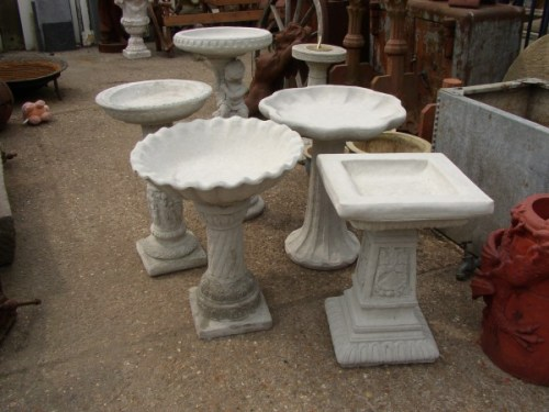 Various Bird Baths
