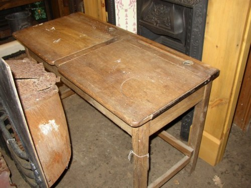 Double Oak School Desk