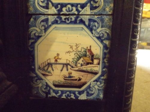Fire Insert with Delft Tiles
