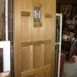 Teak Doors with Tulip Panel