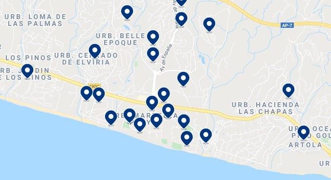 Alojamiento en Elvíria - Haz click en el mapa para ver todo el alojamiento disponible en esta zona
