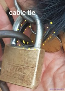 Attaching the cable tie