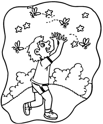 yellow swarming fly coloring page free printable coloring pages