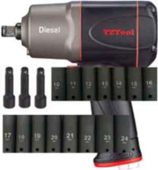 """TZTool 1200 All new Diesel 1/2"""" AIR Impact wrench set"""