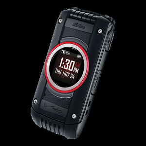 Product photo of the Casio Ravine 2 rugged flip dumb phone