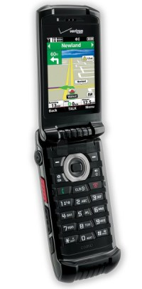 Casio gzOne C781 Ravine 2 flip phone, seen open