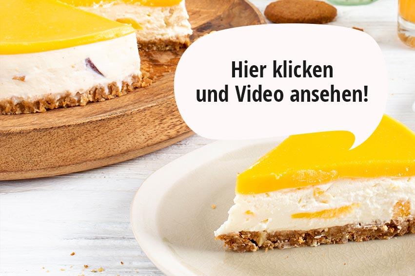 Verpoorten Pfirsich-Maracuja Cheesecake
