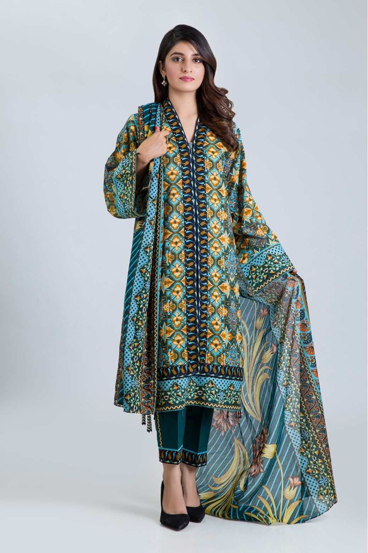 Latest Bonanza Satrangi Lawn Eid Collection 2019