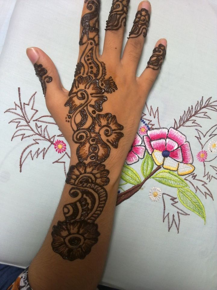 Eid Mehndi Design For Full hand