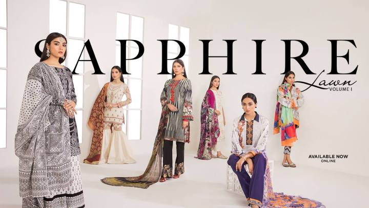 Latest Sapphire Lawn Eid Collection 2019