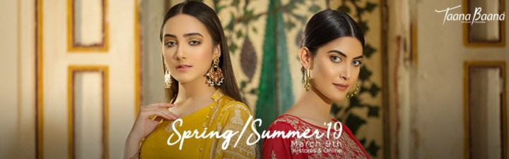 Latest Taana Baana Lawn Eid Collection 2019
