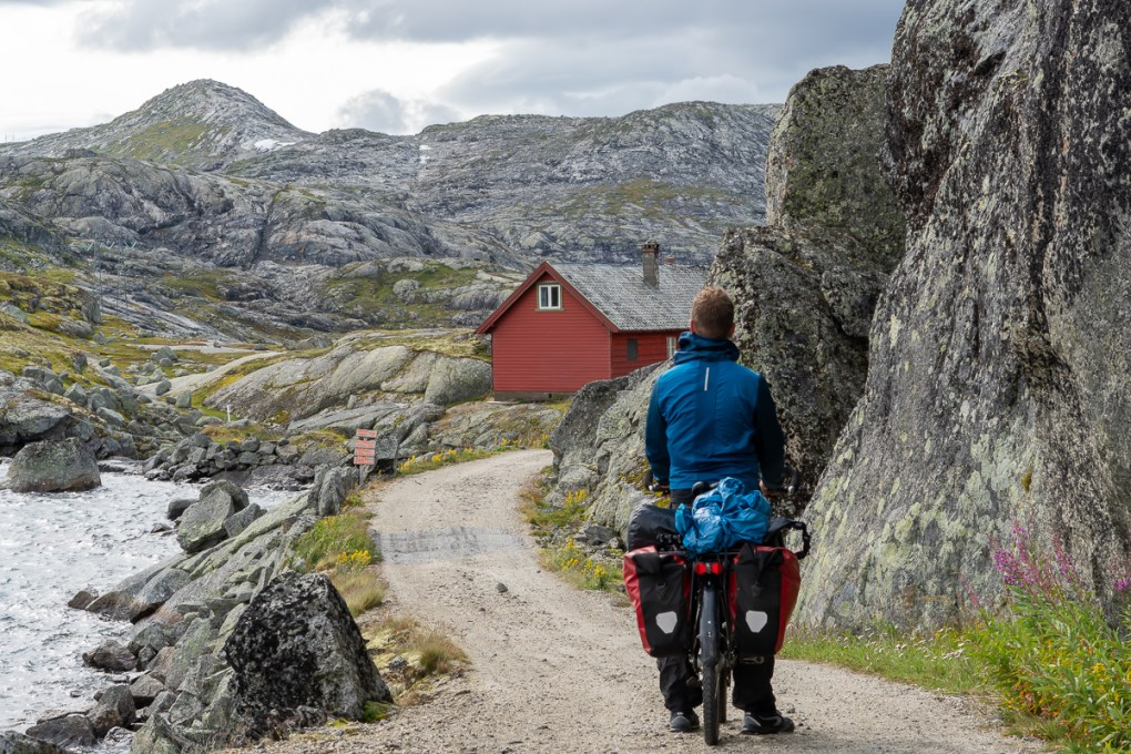 Rood huisje noorwegen