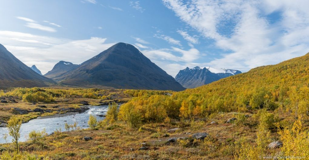 Herfstkleuren Noord-Zweden