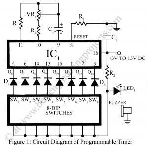 circuit diagram of programmable timer