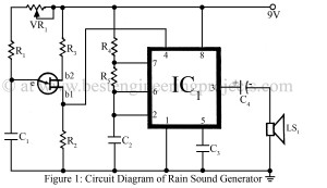 circuit diagram of rain sound generator