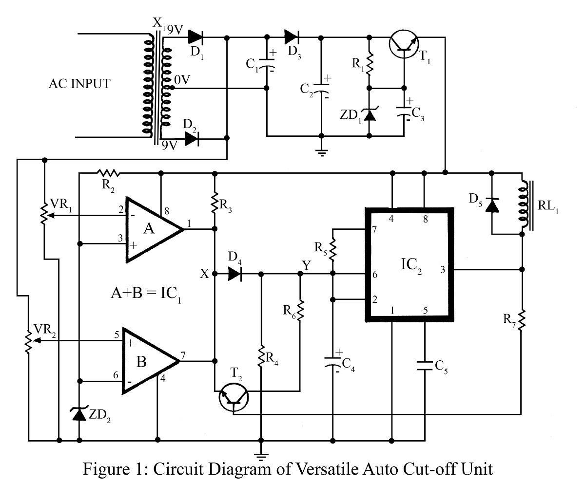 Manual Voltage Stabilizer Circuit Diagram Design