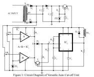 circuit diagram of versatile auto cut off unit