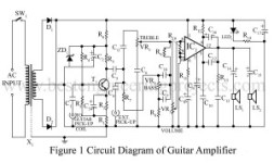 Circuit Diagram of Guitar Amplifier