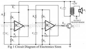 circuit diagram of electronics siren