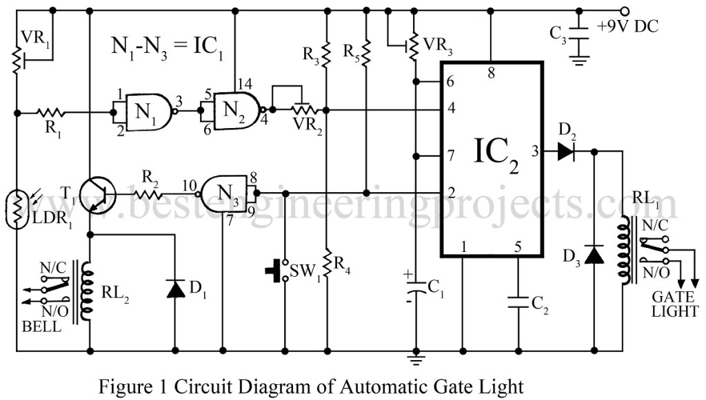 circuit diagram of automatic gate light