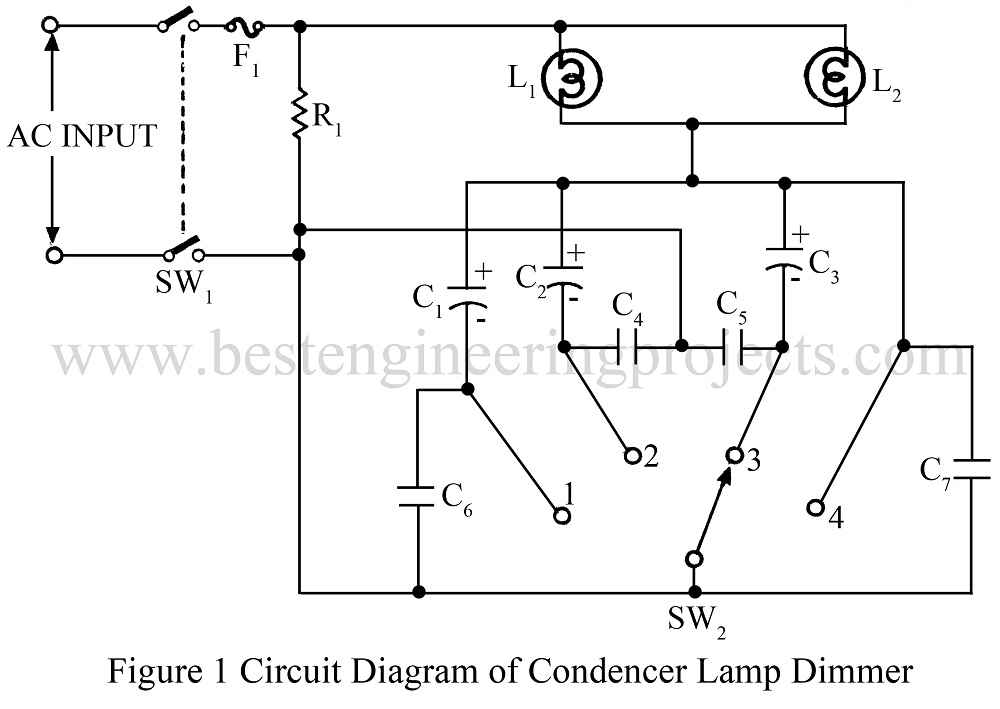 circuit diagram of lamp dimmer