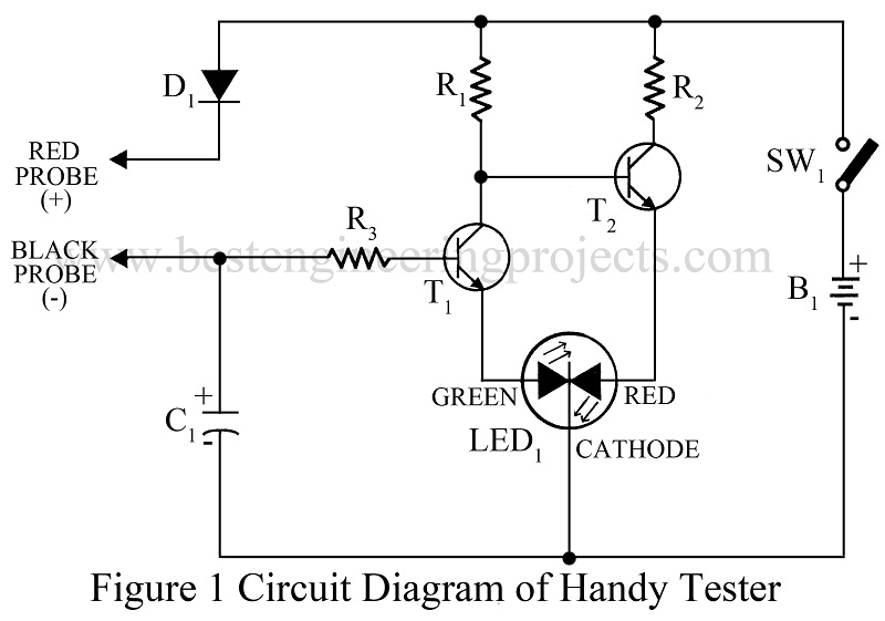 circuit diagram of handy tester
