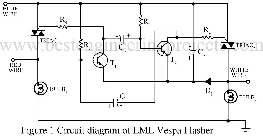 LML Vaespa Flasher | Basic Electronic Projects